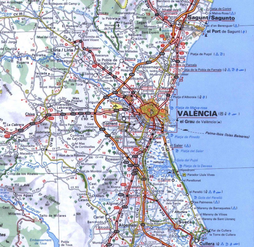 el mapa de valencia