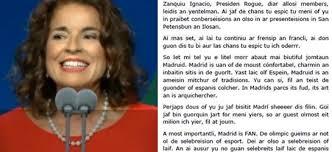 Ana Botella discurso madrid 2020