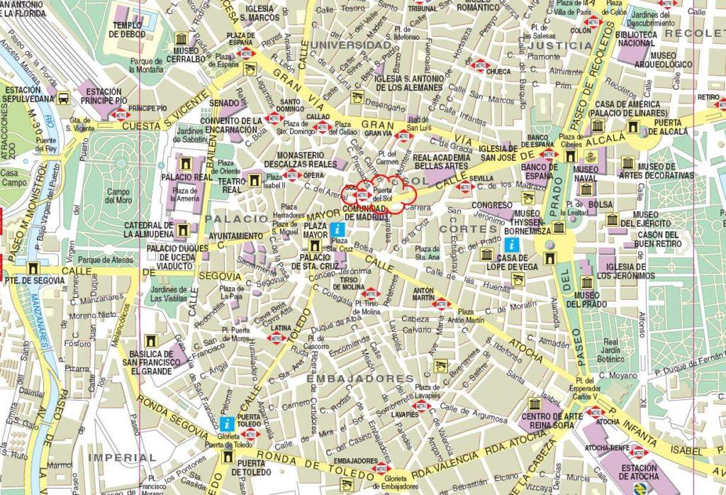 mapa centro madrid