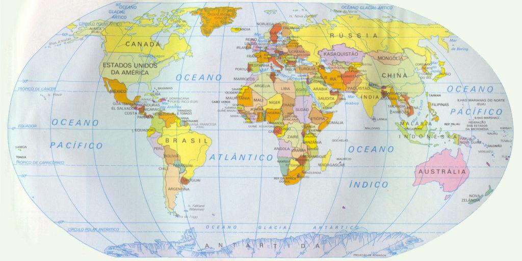 mapamundi actualizado 2017